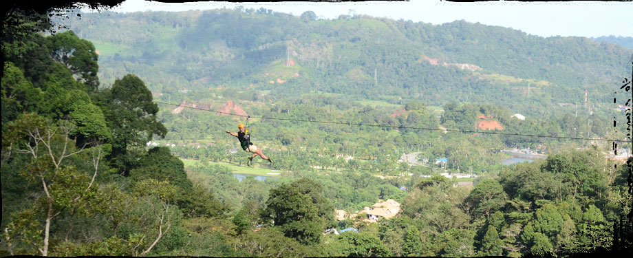 Zipline Phuket - Flying from tree to tree.