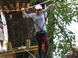 Jungle Xtrem Adventures Park : Walking on the edge